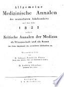 Allgemeine medizinische Annalen des neunzehnten Jahrhunderts