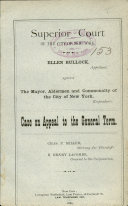 Superior Court Of The City Of New York : ...