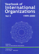Yearbook Of International Organizations 1999 2000 book