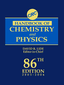 Crc Handbook Of Chemistry And Physics 86th Edition