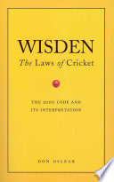 Wisden's The Laws Of Cricket The Text Of The New Laws Of