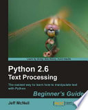 Python 2 6 Text Processing