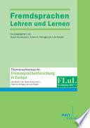 Fremdsprachen Lehren und Lernen 2011