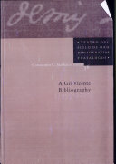 A Gil Vicente Bibliography, 1995-2000