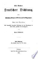Abth. Von Sebastuab Brant bis J. W. Goethe