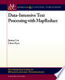 Data intensive Text Processing with MapReduce