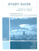 Study Guide for Introduction to Management Accounting