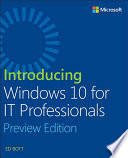 Introducing Windows 10 For It Professionals Preview Edition