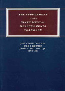 The Supplement to the Ninth Mental Measurements Yearbook