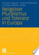 Religiöser Pluralismus und Toleranz in Europa