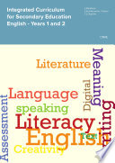 Integrated Curriculum for Secondary Education English   Years 1 and 2