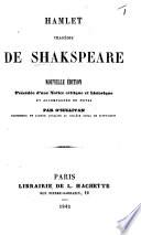 Hamlet ... Nouvelle édition, précédée d'une notice critique et historique et accompagnée de notes par O'Sullivan