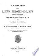 Vocabolario della lingua epirotica-italiana