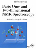 Basic One And Two Dimensional Nmr Spectroscopy book