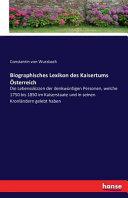 Biographisches Lexikon des Kaisertums Österreich