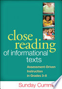 Close Reading of Informational Texts Book PDF
