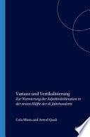 Varianz und Vertikalisierung