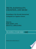 Truth Rationality Cognition And Music book
