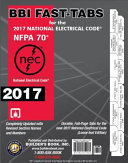 2017 National Electrical Code  NEC  Loose Leaf BBI Fast Tabs