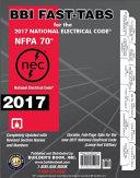 2017 National Electrical Code  NEC  Loose Leaf BBI Fast Tabs