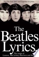 Book The Beatles Lyrics