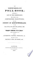 The Northumberland Poll book