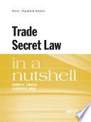 Sandeen and Rowe s Trade Secret Law in a Nutshell