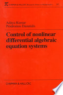 Control of Nonlinear Differential Algebraic Equation Systems with Applications to Chemical Processes
