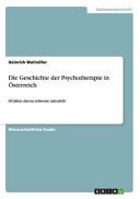 Die Geschichte der Psychotherapie in   sterreich