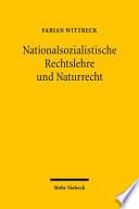 Nationalsozialistische Rechtslehre und Naturrecht