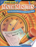 Math Minutes  7th Grade  eBook