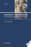 Grundbau-Taschenbuch, Teil 3