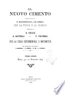 Il nuovo cimento giornale di fisica  di chimica  e delle loro applicazioni alla medicina  alla farmacia ed alle arti industriali