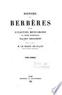 Histoire des Berb  res et des dynasties musulmanes de l Afrique Septentrionale
