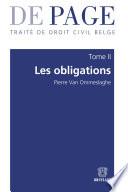 Trait De Droit Civil Belge Tome Ii Les Obligations Volumes 1 3