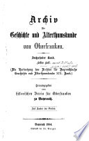Archiv für Geschichte von Oberfranken