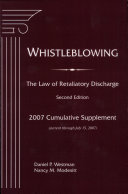 WHISTLEBLOWING The Law of Retaliatory Discharge