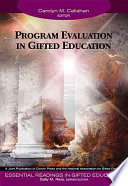 Program Evaluation in Gifted Education