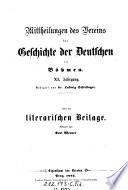Mittheilungen des Vereins für Geschichte der Deutschen in Böhmen