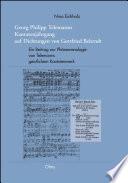Georg Philipp Telemanns Kantatenjahrgang auf Dichtungen von Gottfried Behrndt