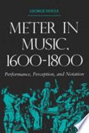 Meter in Music, 1600-1800