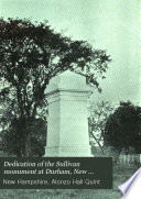 Dedication of the Sullivan Monument at Durham  New Hampshire