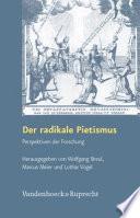 Der radikale Pietismus