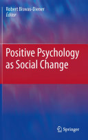 download ebook positive psychology as social change pdf epub