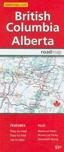 Rand McNally British Columbia Alberta  Canada Road Map