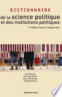 Dictionnaire de la science politique et des institutions politiques