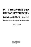 Mitteilungen der Literarhistorischen Gesellschaft