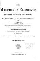 Die maschinen Elemente  Text