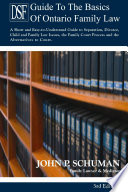 The Devry Smith Frank Llp Guide To The Basics Of Ontario Family Law 3rd Edition