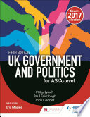 UK Government and Politics for AS A level  Fifth Edition